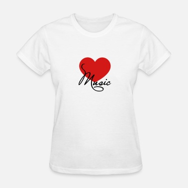 Choir Music Heart I love music like classical choir band clef - Women's T-Shirt