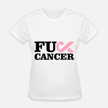 Breast Cancer Ribbon Fuck Cancer - Women's T-Shirt