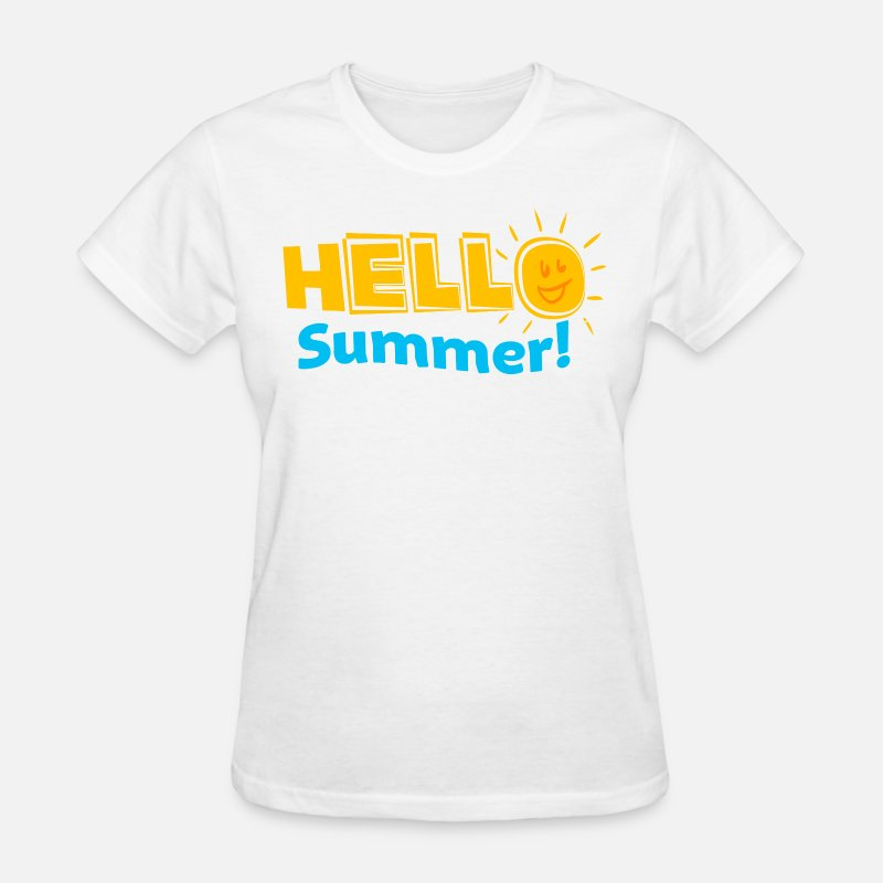 School T-Shirts - Kreative In Kinder Hello Summer! - Women's T-Shirt white