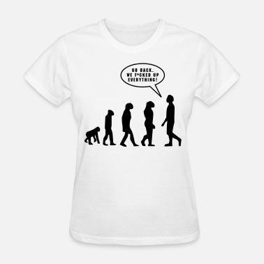 Funny Signs Evolution - Women's T-Shirt