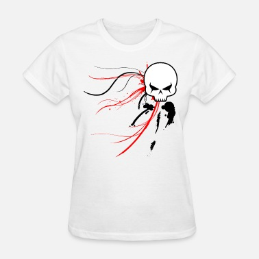 Graffiti-women Cyber Skull Graffiti (Womens) - Women's T-Shirt
