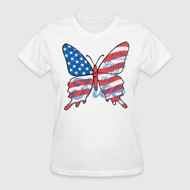 Patriotic Butterfly - Women's T-Shirt