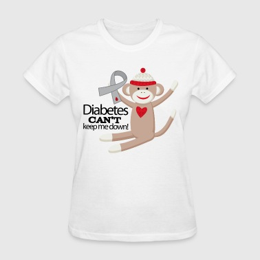Diabetes Support (Sock Monkey) - Women's T-Shirt