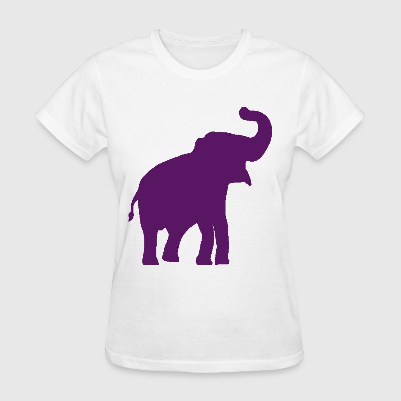 Purple Elephant Design - Women's T-Shirt