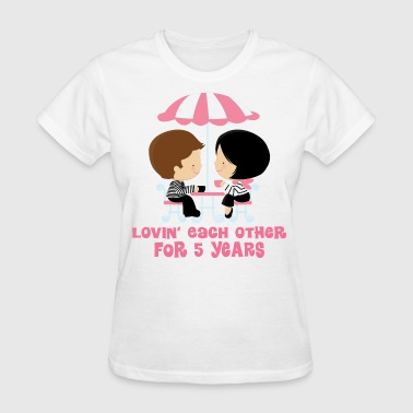 5th Anniversary French Couple - Women's T-Shirt