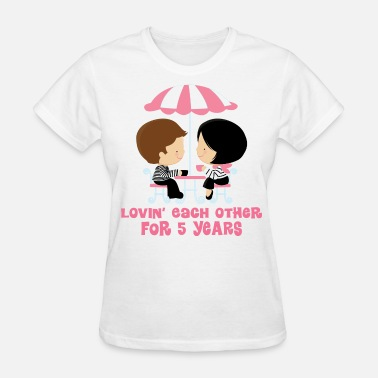 5th Anniversary 5th Anniversary French Couple - Women's T-Shirt