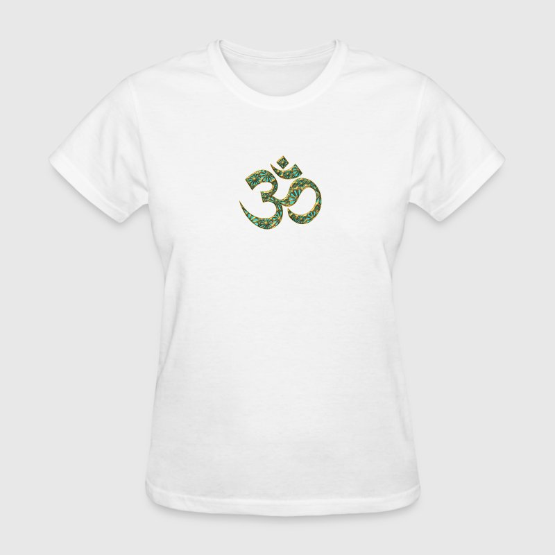 OM (AUM - I AM), manifestation of spiritual strength, Energy Symbol / sacred symbol, turquoise - Women's T-Shirt