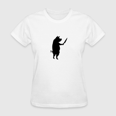 Killer Pig (1c)++2012 - Women's T-Shirt