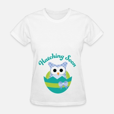 Easter Maternity Easter Maternity Owl Hatching Soon - Women's T-Shirt