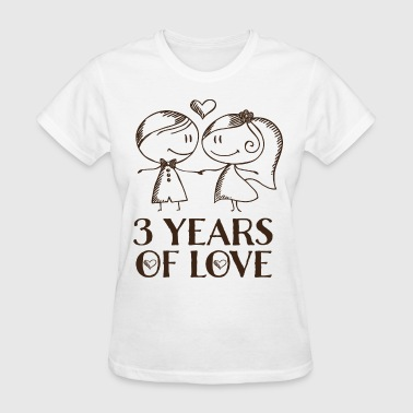 3 Years Together 3rd Anniversary 3 Years - Women's T-Shirt