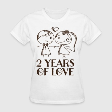 2nd Anniversary Gift Cute - Women's T-Shirt