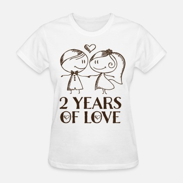 Second Wedding Her 2nd Anniversary Gift Cute - Women's T-Shirt