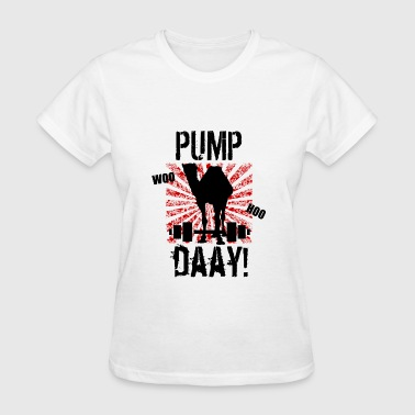 Pump Day Weightlifting Camel Women's T-Shirt - Women's T-Shirt