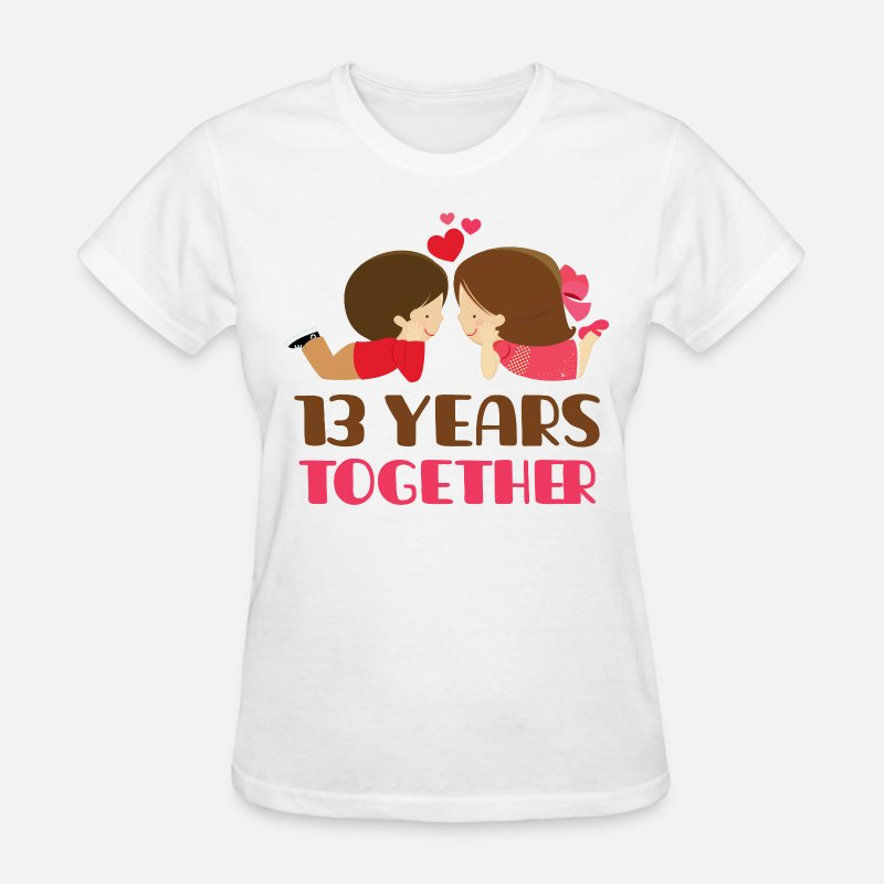 Couples T-Shirts - 13th Anniversary Couples 13 Years - Women's T-Shirt white