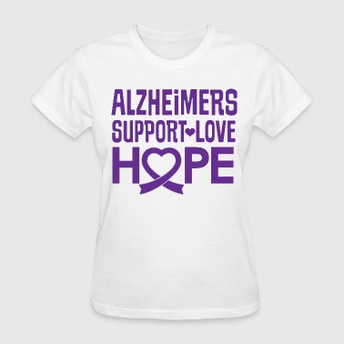 Alzheimers Awareness Support Hope - Women's T-Shirt
