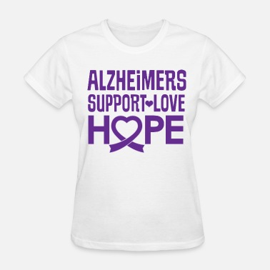 Alzheimers Support Alzheimers Awareness Support Hope - Women's T-Shirt
