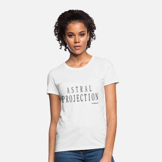 Alien T-Shirts - Astral Projection v2 T Shirts - Black - Women's T-Shirt white