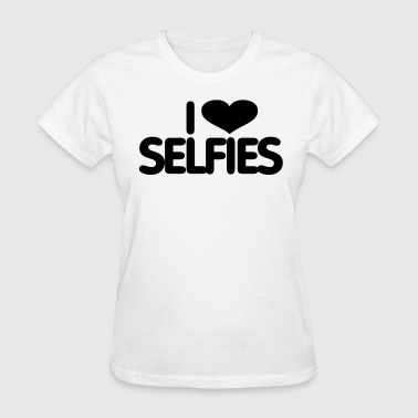 I Love Selfies - Women's T-Shirt