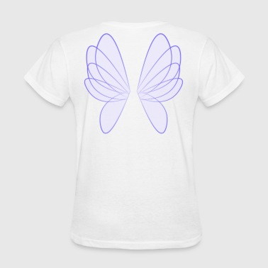Fairy Wings, Blue - Women's T-Shirt