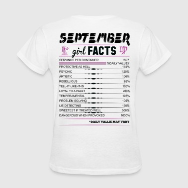 September Girl Facts Virgo - Women's T-Shirt