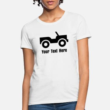 Colorful Car Graphic Design On A Jeep - VECTOR - Women's T-Shirt