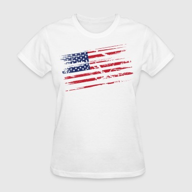 Distressed flag - Women's T-Shirt