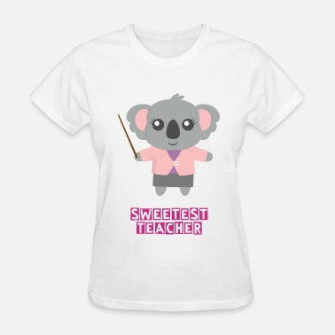 Cute Pink Teacher Cute Koala Bear Teacher - Women's T-Shirt