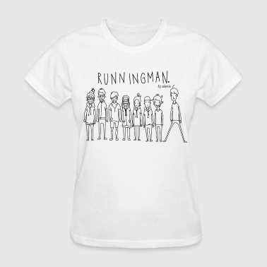 Running Man Cast: Black - Women's T-Shirt