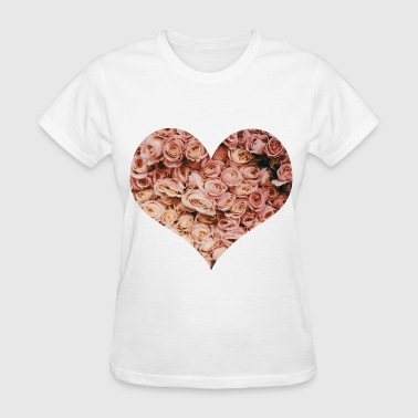 Floral heart - Women's T-Shirt