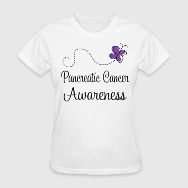 Pancreatic Cancer Awareness Butterfly - Women's T-Shirt