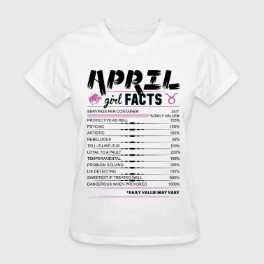 April Girl Facts Taurus - Women's T-Shirt