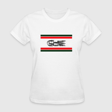 Gone T-shirt design with green and red color - Women's T-Shirt