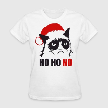 Grumpy Urly christmas cat - Women's T-Shirt