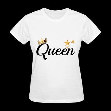 King & Queen Couples Matching Shirts - Women's T-Shirt