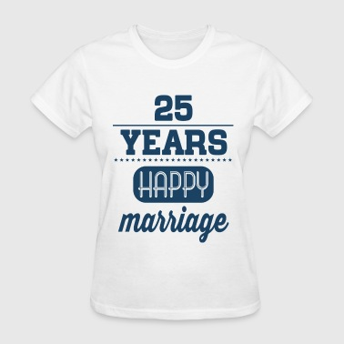 25 Years Happy Marriage - Women's T-Shirt