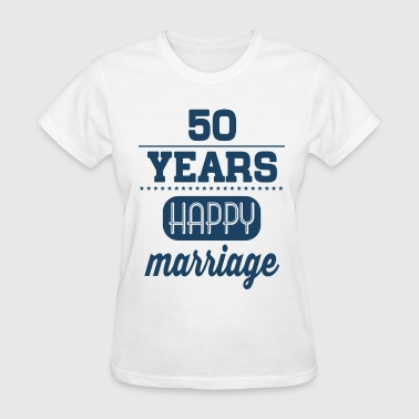 50 Years Happy Marriage - Women's T-Shirt