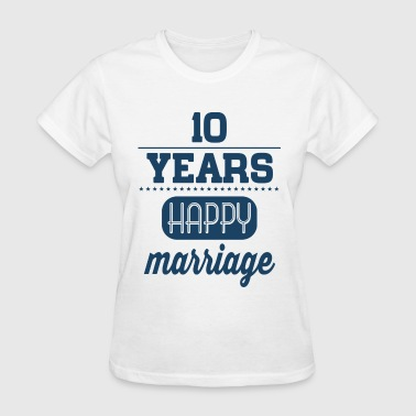 10 Years Happy Marriage - Women's T-Shirt
