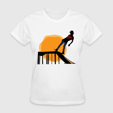 skater skateboard halfpipe skater skating funsport - Women's T-Shirt