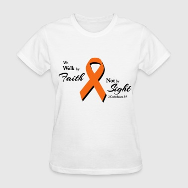 Walk By Faith Multiple Sclerosis  - Women's T-Shirt