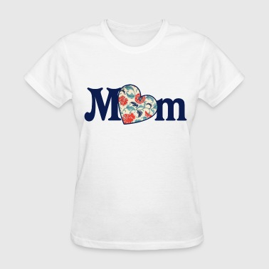 Retro MOM heart for mothers day - Women's T-Shirt