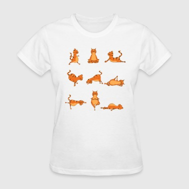 Yoga Pose Cat. Funny Yoga Jokes - Women's T-Shirt