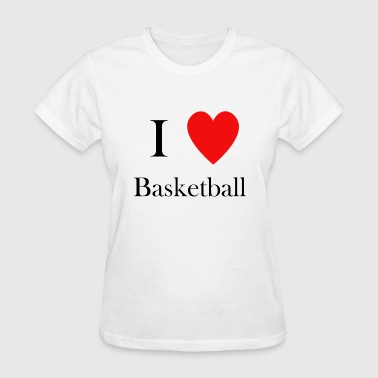 I love basketball heart hoops - Women's T-Shirt