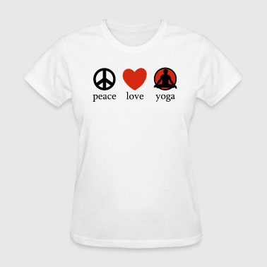 Peace Love Yoga - Women's T-Shirt