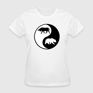 Trader Bull Bear Wall Street Stock Market - Women's T-Shirt