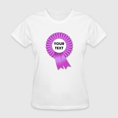 Pink Rosette and Ribbon Template - Women's T-Shirt
