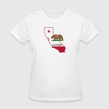 CALIFORNIA LOVE BEAR AND STATE - Women's T-Shirt