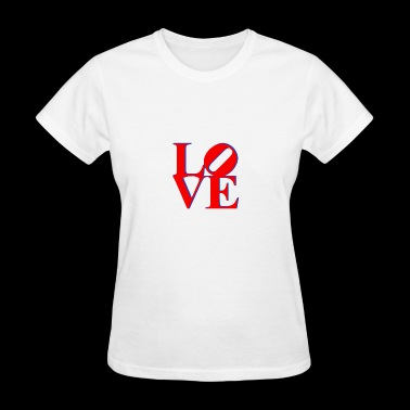 Love Park Philadelphia Sign - Women's T-Shirt