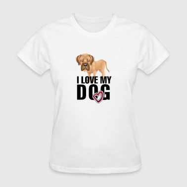 I_love_my_dog_black - Women's T-Shirt