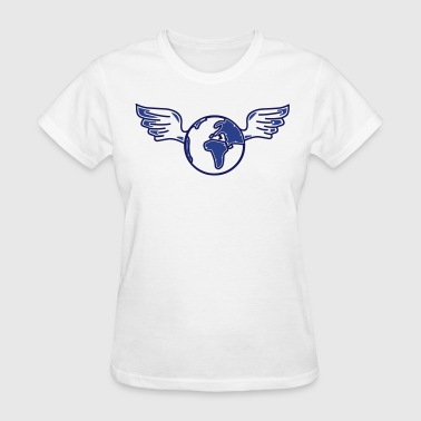 earth with wings - Women's T-Shirt