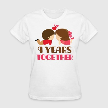 9th Anniversary 9 Years Together - Women's T-Shirt